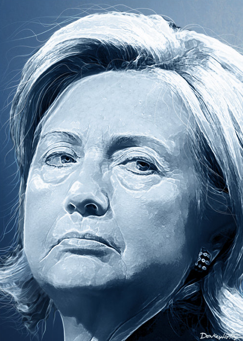 The Hillary Clinton e-mail scandal gets buried by the major newspapers photo/ donkey hotey