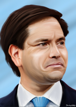Marco Rubio close up emotional donkeyhotey