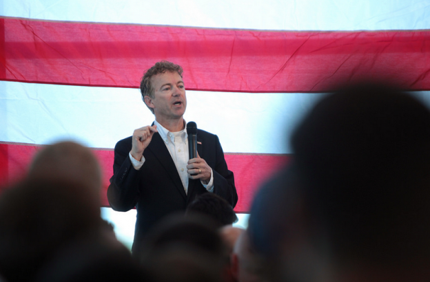 Rand Paul on the campaign 2015 photo/ Gage Skidmore