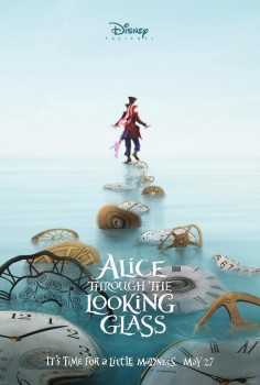 depp as mad hatter in alice through the looking glass move poster