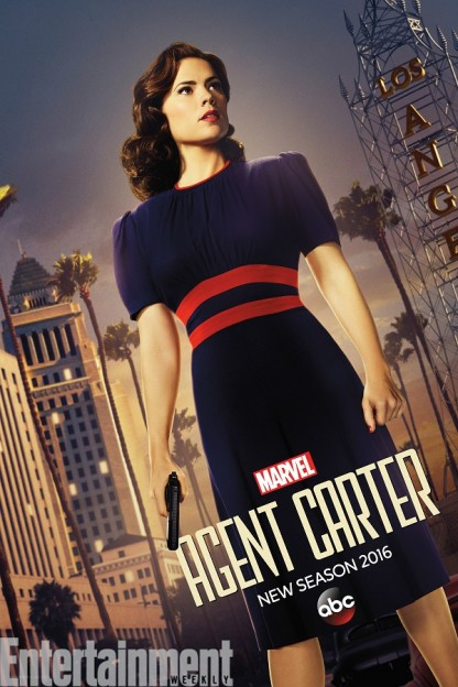 Agent Carter season 2 poster Hayley Atwell in action