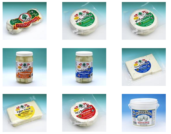 A sample of some of the soft cheeses/FDA
