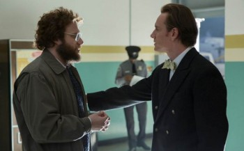 Steve Jobs film Seth Rogen as Woz Michael Fassbender pic