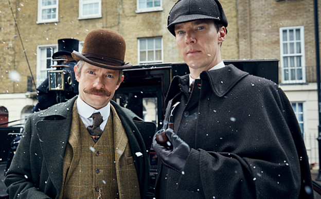 sherlock new photo Martin Freeman Benedict Cumberbatch Victorian
