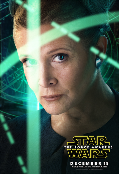 Carrie Fisher Princess Leia Star Wars the Force Awakens poster