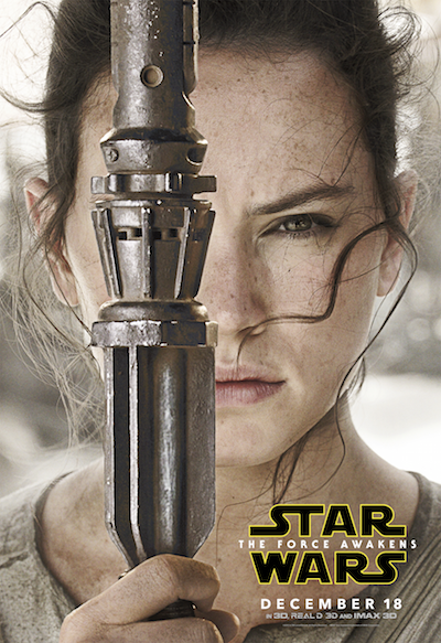 Daisy Ridley as Rey Star Wars the force awakens poster