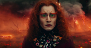 Johnny Depp as Mad Hatter in Alice THrough the Looking Glass