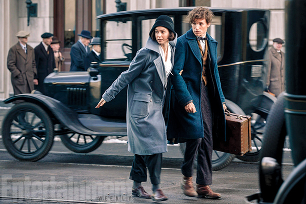 Katherine Waterston  and Eddie Redmayne Fantastic Beasts and Where to find them