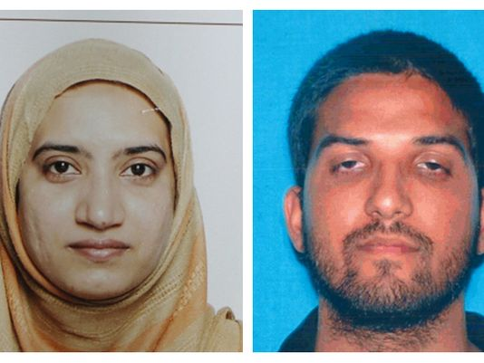 Tashfeen Malik and Syed Farook - the San Bernardino Islamic terrorists