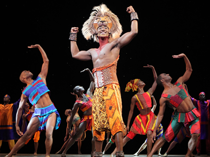 "Jelani Remy as ""Simba"" and the ensemble in ""He Lives in You"" from THE LION KING National Tour.    Photo:  Joan Marcus ©Disney. courtesy of Straz Center"