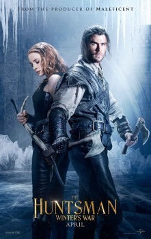 Jessica Chastain Chris Hemsworth The Huntsman Winter War movie poster