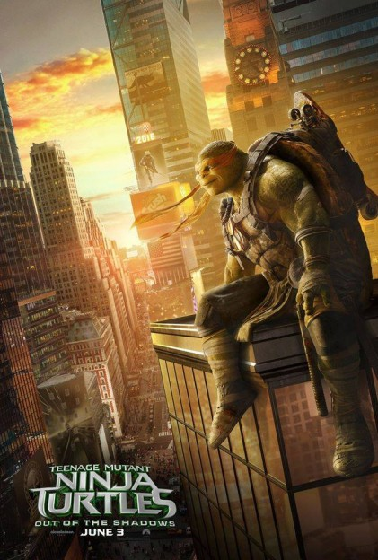 Michelangelo TMNT Ninja Turtles move poster Out of the Shadows