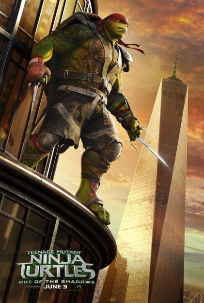 Raphael TMNT Ninja Turtles move poster Out of the Shadows