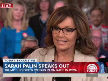 Sarah Palin was blindsided by the Today Show team when the questions went away from the Iowa caucus and onto her family