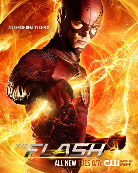 The Flash alternate reality lightning poster