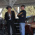 ZZ Top's Billy Gibbons and hot rod builder Jimmy Shine (right) discuss costs at vehicle liquidators (Photo courtesy of Discovery)