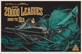 20000 Leagues under the seas Disney banner poster