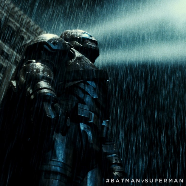 Batman in armor Batman v Superman dawn of Justice in rain photo