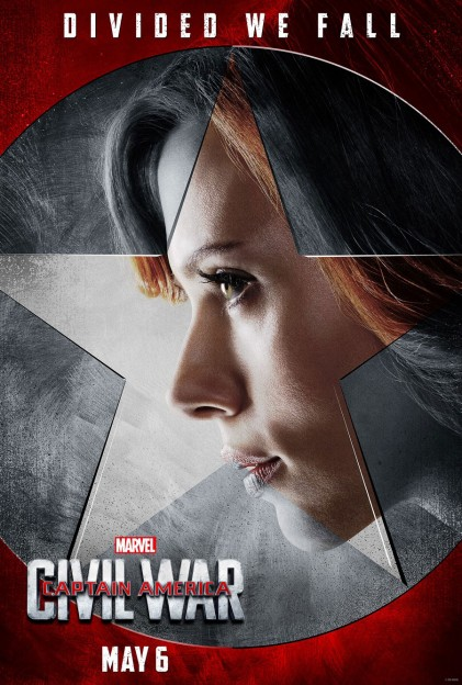 Captain AMerica civil War BLack Widow Scarlet JOhansson poster