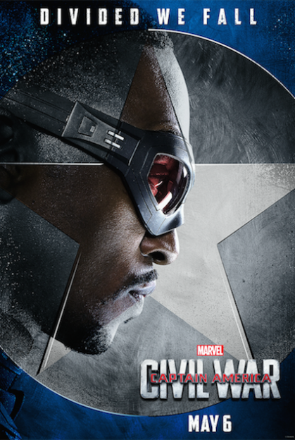 Captain America Civil War Anthony Mackie Falcon movie poster