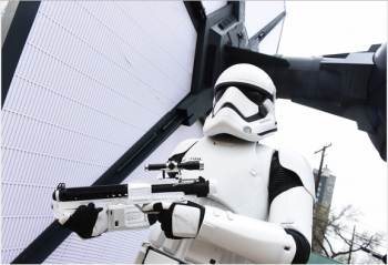 First order troopers promoting FOrce Awakens documentary at film festival