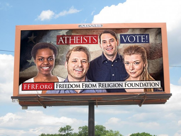 freedom from religion billboard Wisconsin voting group pic