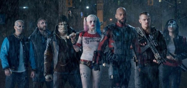 suicide squad-ensemble-cast photo WIll Smith Margot Robbie
