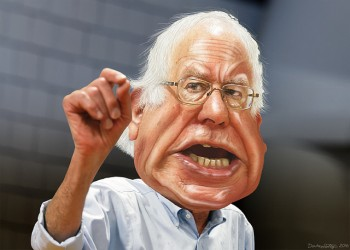 Bernie Sanders yelling on campaign trail donkeyhotey