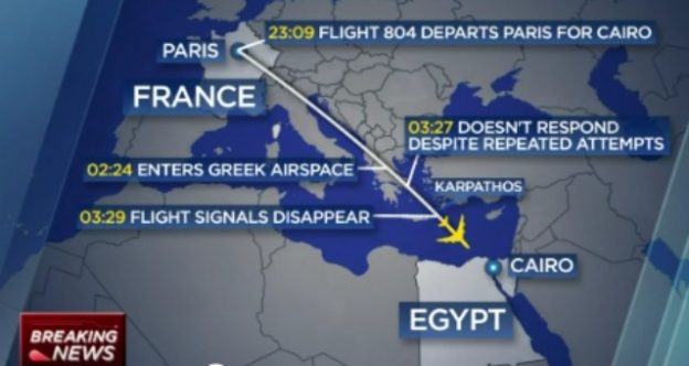 EgyptAir Plane Crash details screenshot/ CNBC video coverage