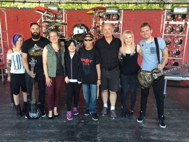 Skillet Make a Wish band and family photo