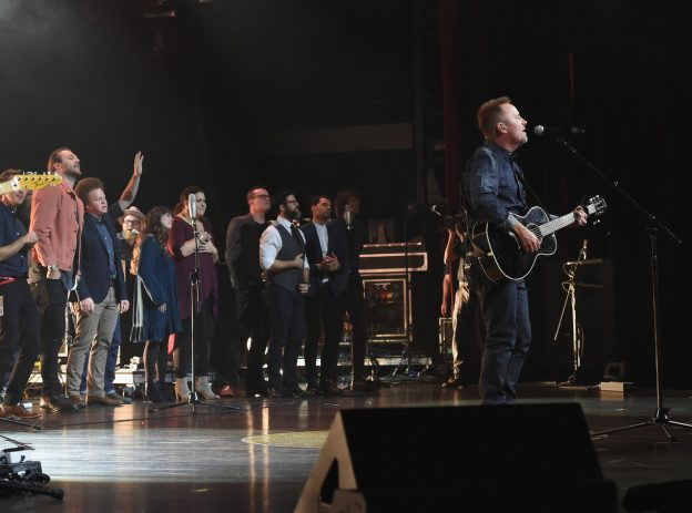 "Chris Tomlin sings ""Good, Good Father"" K-love Awards 2016 photo/ Getty Images courtesy of The Media Collective"