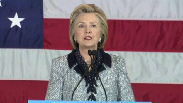Hillary Clinton on the 2016 campaign trail in Pittsburgh, Penn.