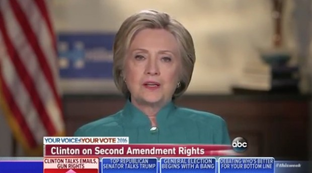 Hillary Clinton won't say if the Second Amendment makes gun ownership a right photo/screenshot