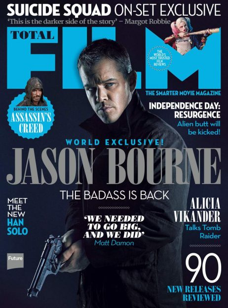 Matt Damon Jason Bourne Total Film magazine cover