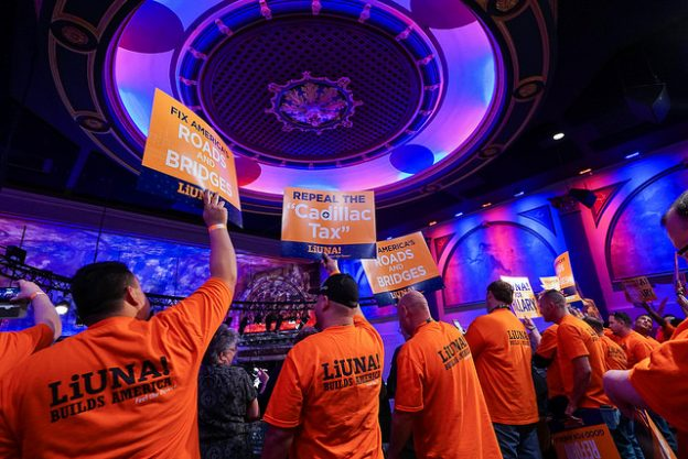 LiUNA Builds America at Hillary For America rally April 2016 at Wilmington, DE photo by Barbara Kinney for Hillary for America