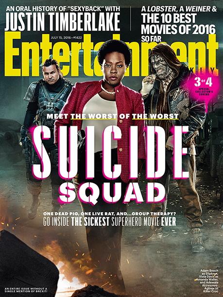 EW Suicide Squad cover Adam Beach Slipknot Viola Davis Amanda Walller and Killer Croc