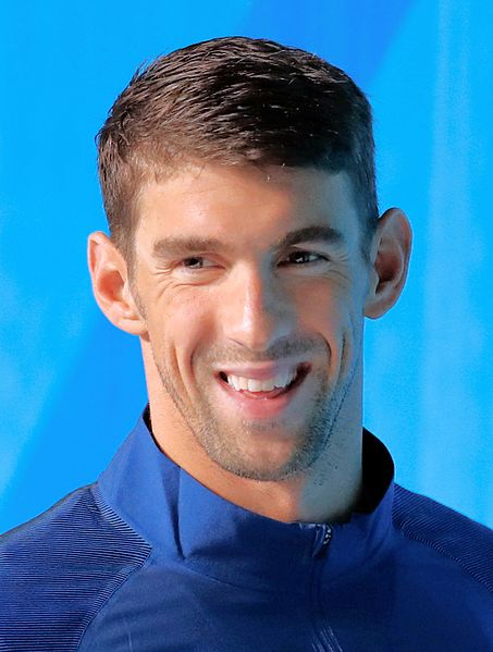 Michael Phelps at the 2016 Olympics in Rio  photo/ Agência Brasil Fotografias via wikimedia