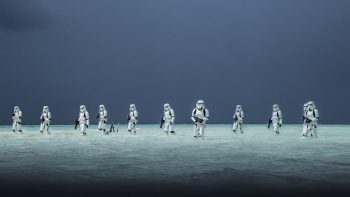 rogue one stormtrooper squad wading through water