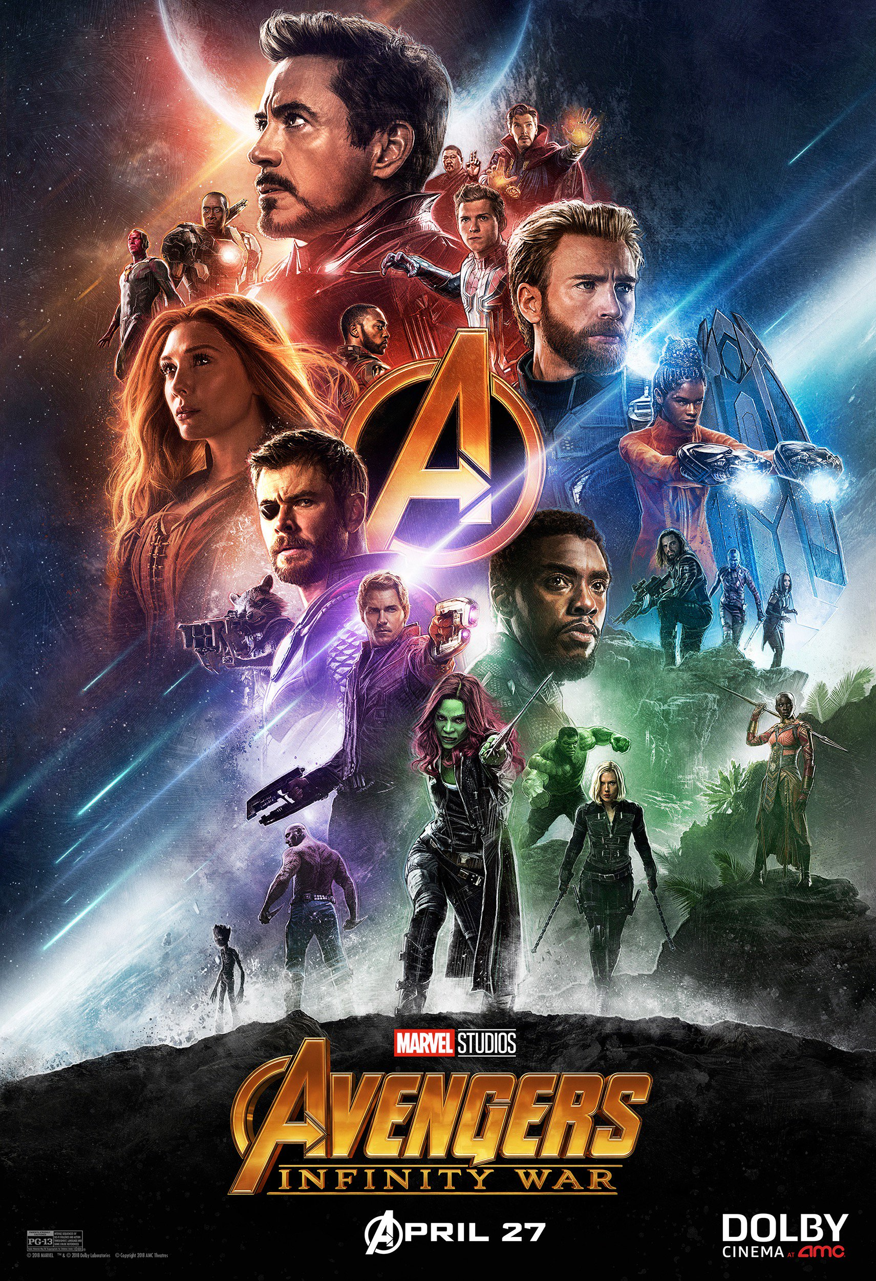 avengers infinity war poster dolby