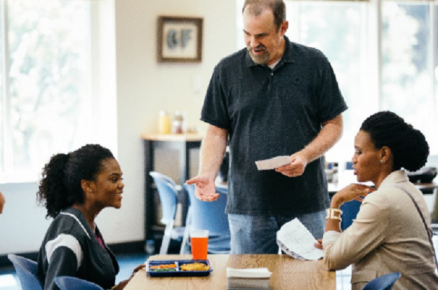 Aryn Wright-Thompson, Alex Kendrick and Priscilla Shirer rehearse a scene from the August 2019 film OVERCOMER. Photo/ Sara Burns, Courtesy of AFFIRM Films and Provident Films (c) 2018 CTMG. All Rights Reserved.