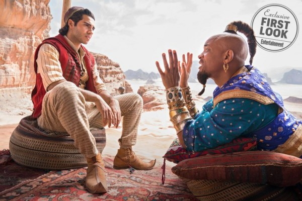 first photos of aladdin first look at characters guy