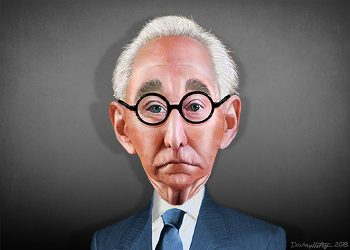 Roger Stone cartoon