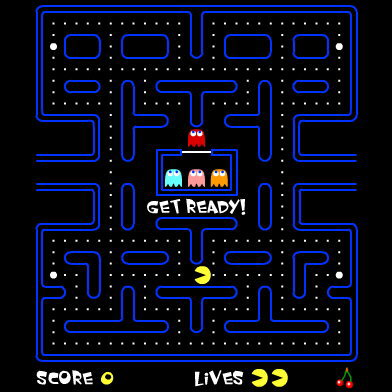 Pac-Man video game screen
