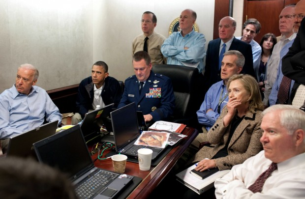 White House Situation-room-photo Bin Laden raid pic Obama administration