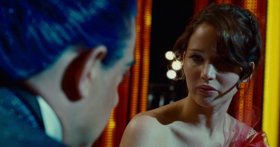 The-Hunger-Games-Katniss-and-Caesar JEnnifer Lawrence Stanley TUcci