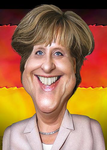 Angela Merkel cartoon caricature