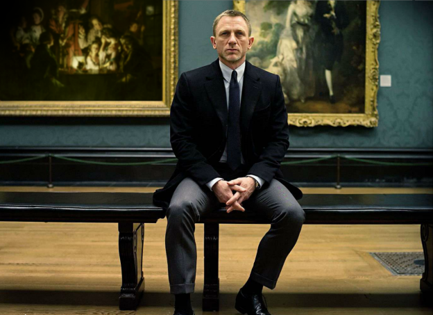 Daniel Craig James Bond Skyfall painting