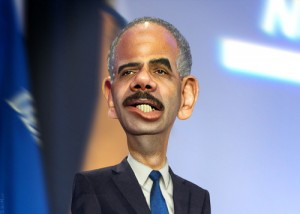 Eric Holder cartoon caricature Attorney General donkeyhotey