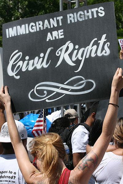 Arizona protesters 2010 photo/Chzz via wikimedia commons