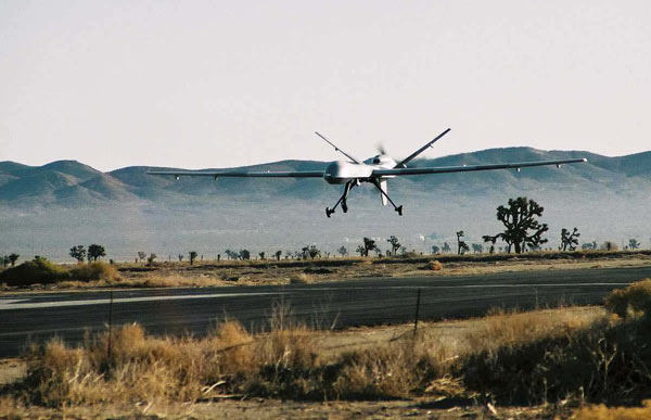 Drone MQ-9 Reaper de l'US Air Force a l'atterrissage Photo/Air Force